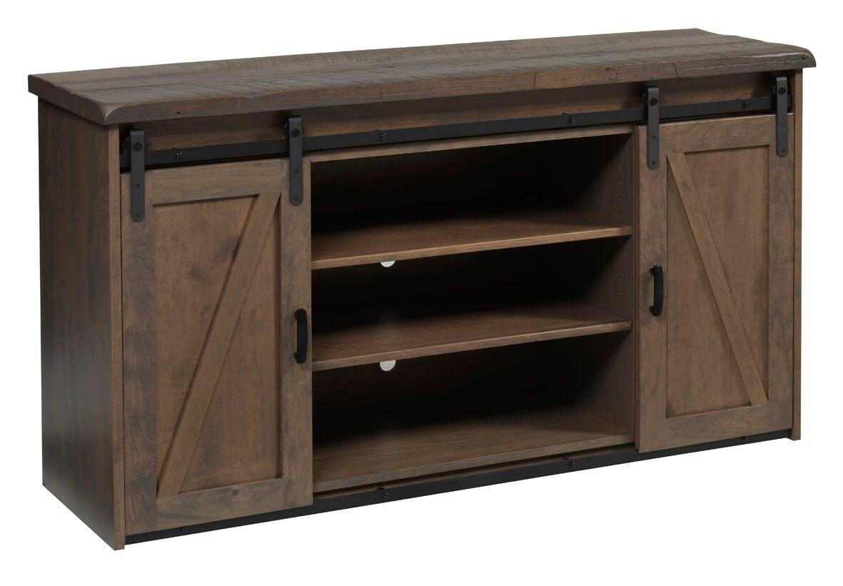 Abingdon Barn Door Tv Stand Countryside Amish Furniture