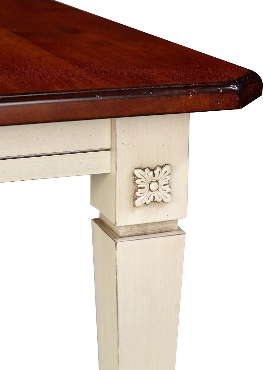 Dining table leg ornamentation