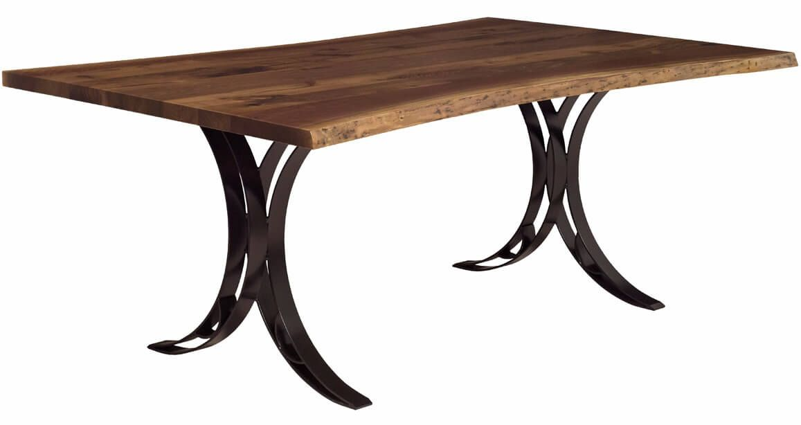 Dominion Reserve Live Edge Table in natural Rustic Walnut