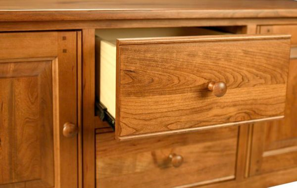 Dovetailed buffet drawer