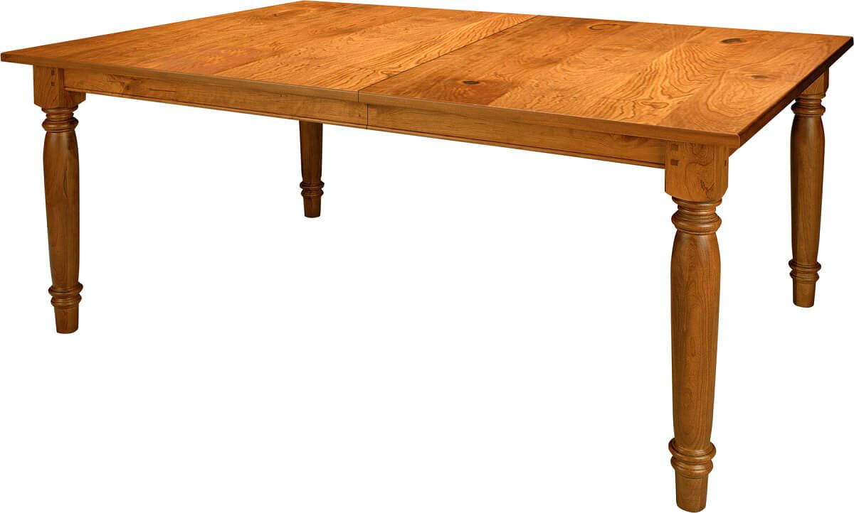 Wood Dining Table with Turned Legs