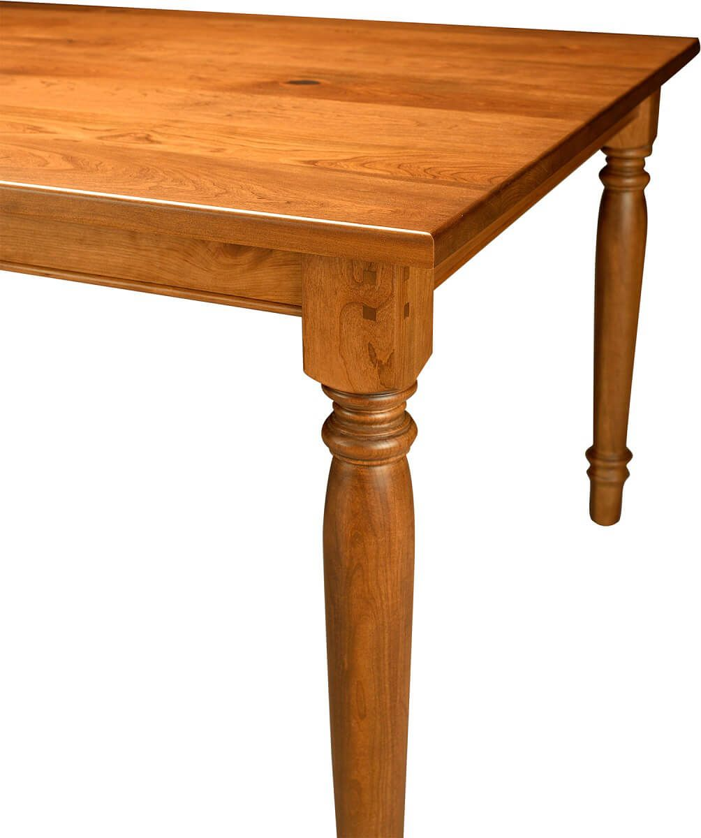 Turned Amish Dining Table Leg