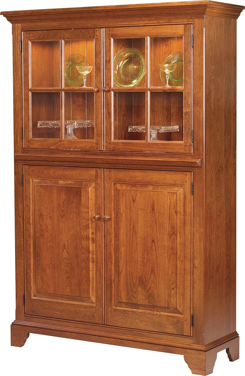 Solid wood High Point Pottery Hutch