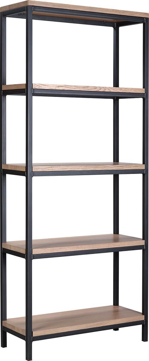 Hardwood and Steel Bookcase
