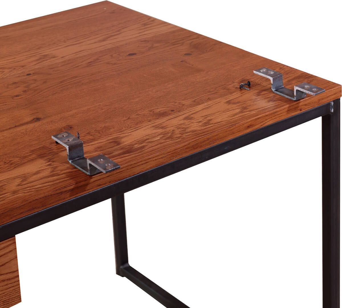 Desk return attachment brackets