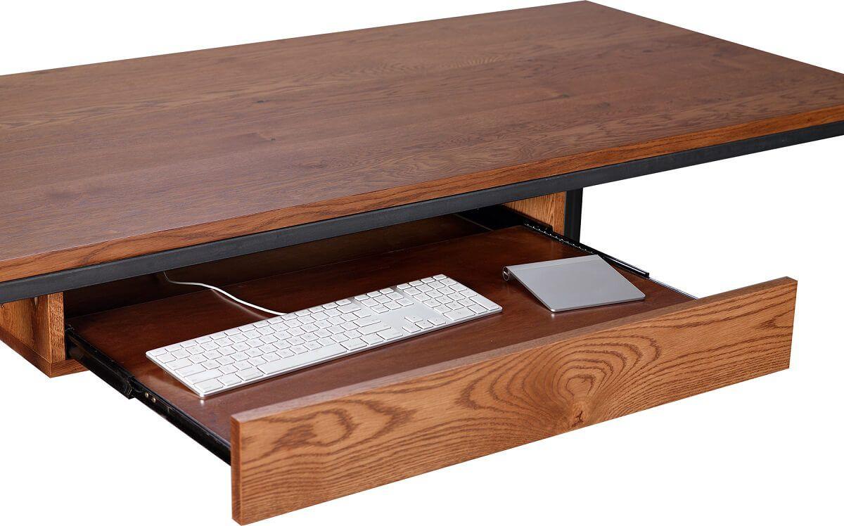 Full extension desk drawer