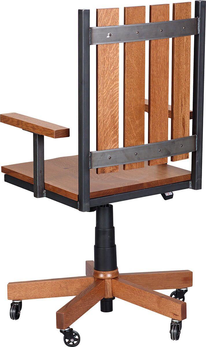 Hardwood and steel frame