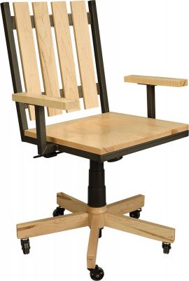 Paxton Desk Chair in Rustic Brown Maple