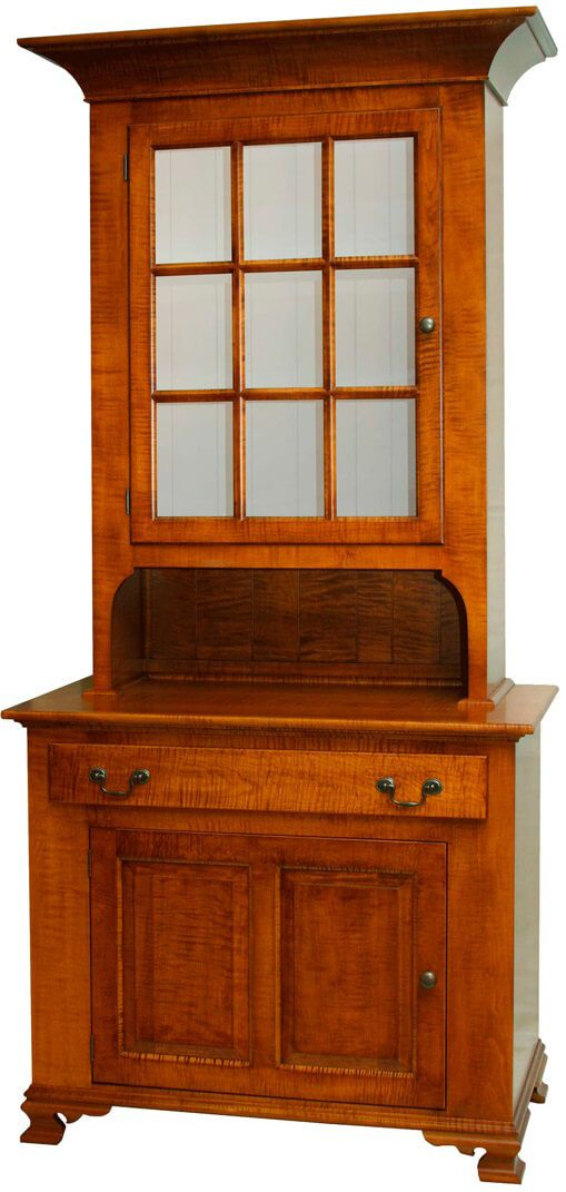 Philadelphia 1-Door Hutch and Buffet shown in Tiger Maple