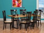 Rustic Ritz Live Edge Table with Terrenova Chairs