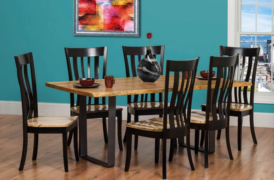Rustic Ritz Live Edge Dining Set image 1