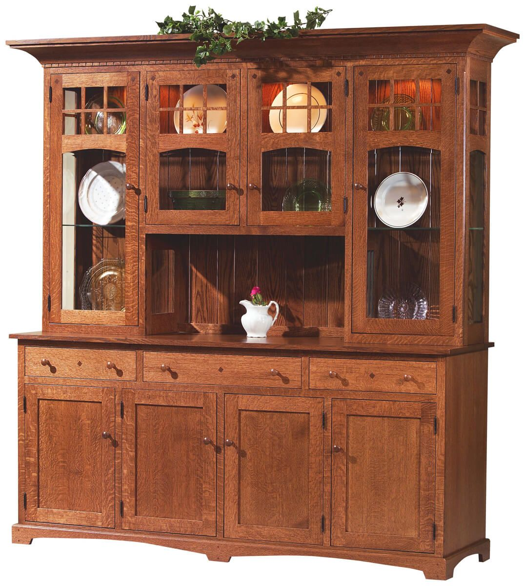 Oak Dining Room Sets With Hutch: Countryside Amish Furniture