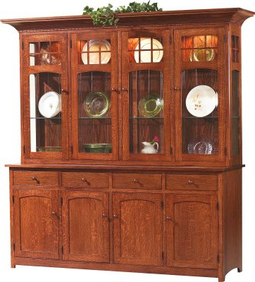 Sonoma Mission 4-Door China Cabinet - Countryside Amish Furniture