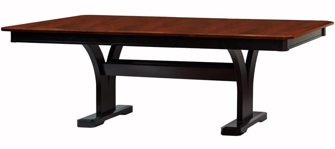 The Terrenova Trestle Table can accept two 18 inch leaves