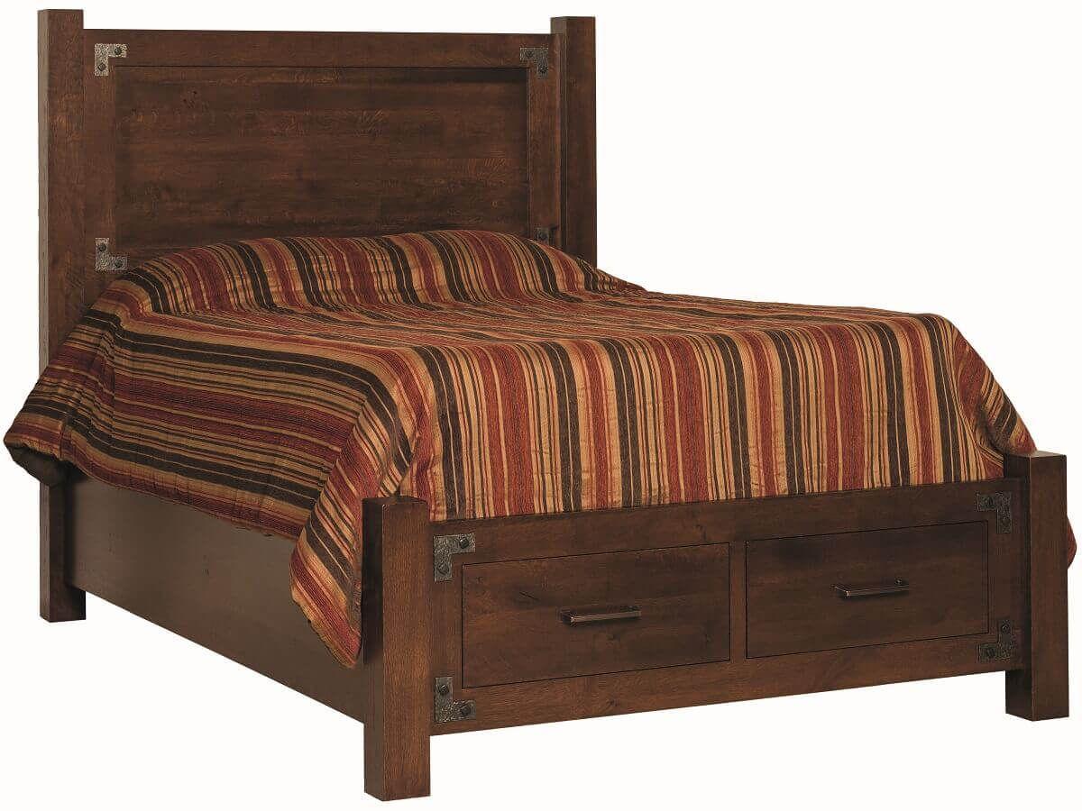 Biener Bed with Footboard Storage