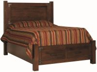 Biener Bed with Footboard Storage