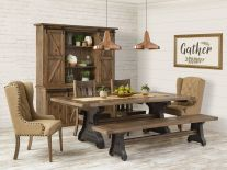 Amish Dining Room Sets Solid Wood Tables Chairs Countryside