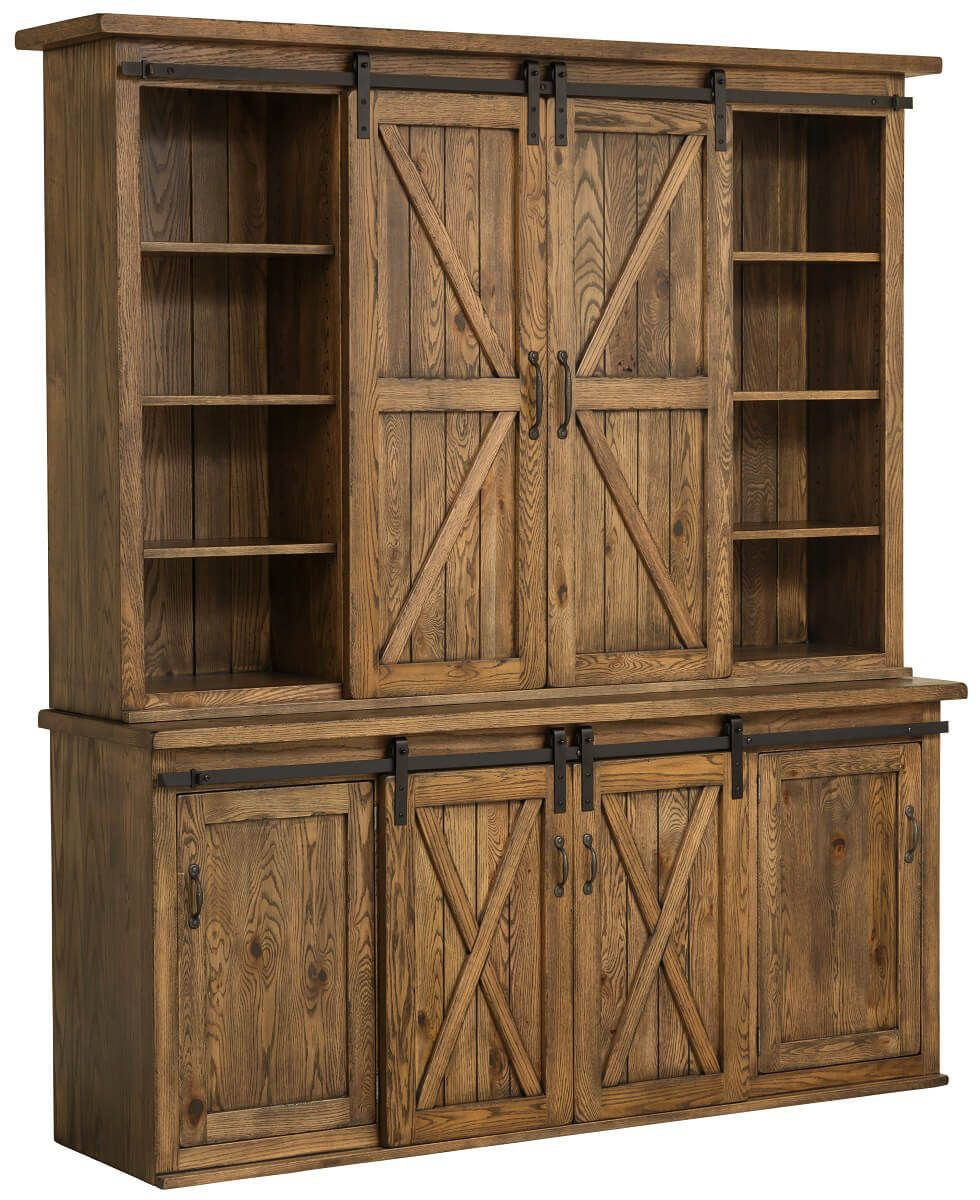 Rustic Barn Door China Cabinet