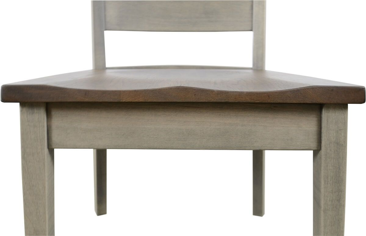 Scooped Wooden Seat