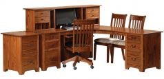Atlanta Ridge L-Desk and File Cabinet