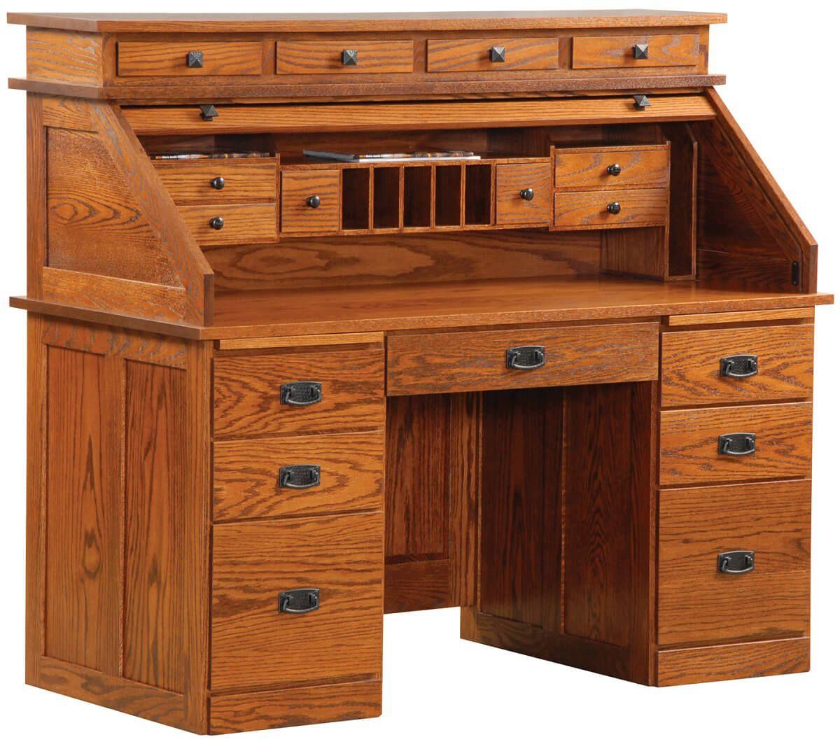Banker's Roll Top Desk