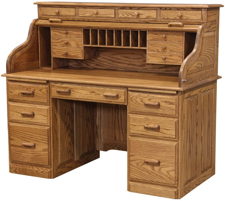 Amish Traditional Computer Desk With Hutch