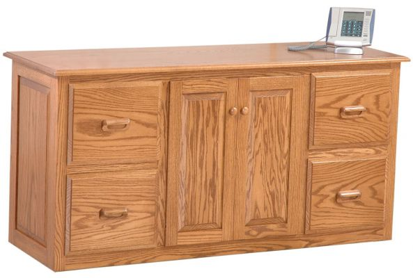 Commissioned Solid Wood Office Credenza
