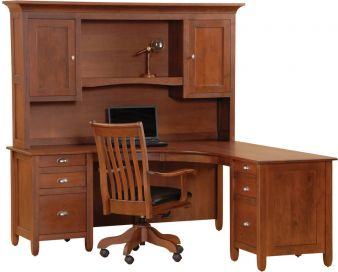 Corner L Shaped Office Desks Countryside Amish
