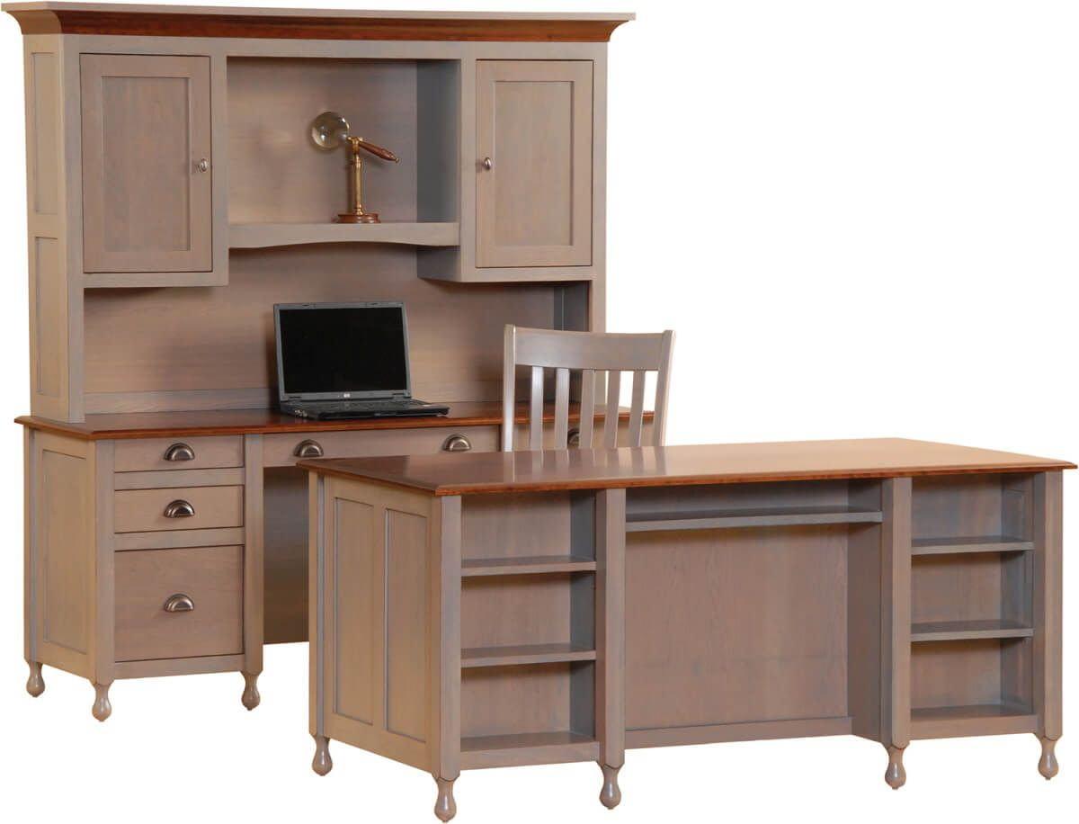 Grafton Computer Bookcase Desk and Credenza