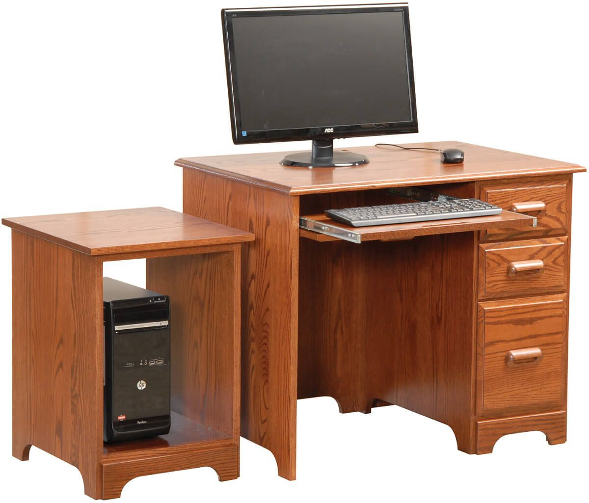 Pioneer's Desk with Pioneer CPU Stand