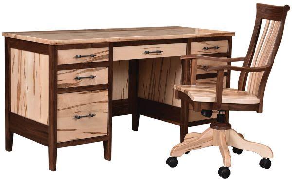 Rustic Americana Hardwood Executive Desk Home Office: Tremont Rustic Wooden Office Desk