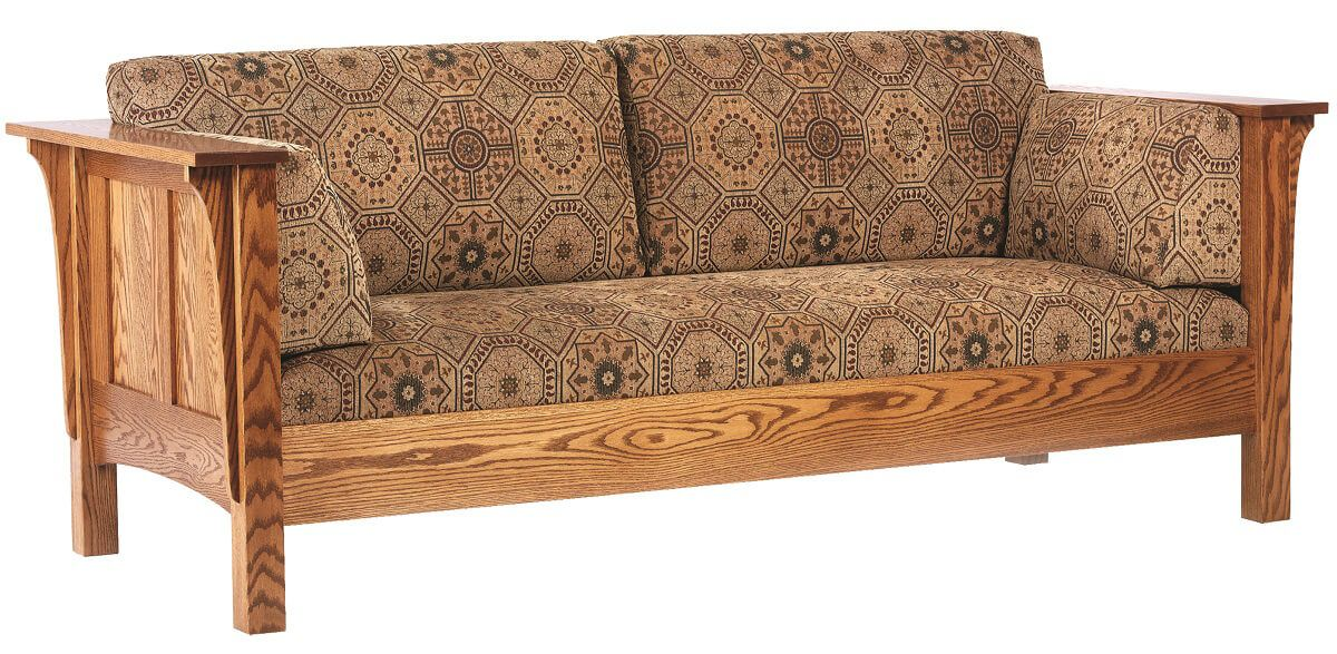 Amish Made Oak Sofa