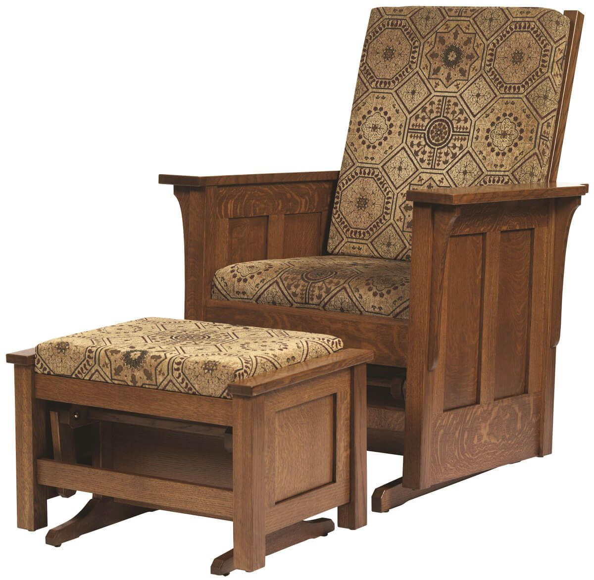 Colonial Cottage Glider and Ottoman