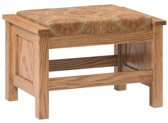 Colonial Cottage Ottoman