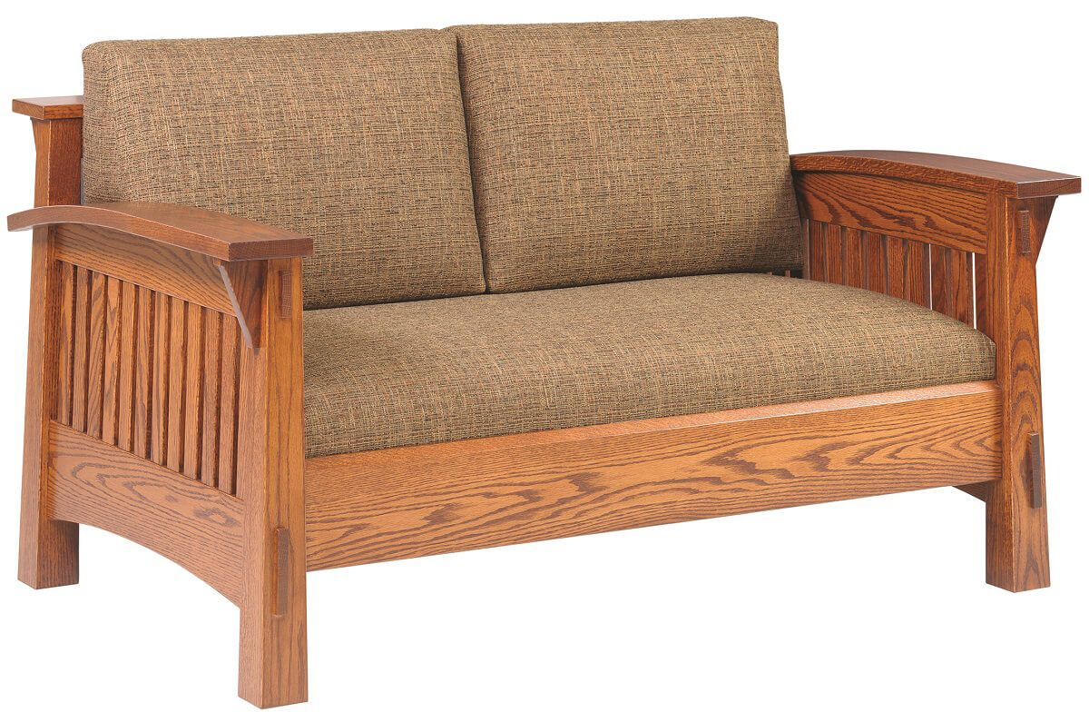 Oak Mission Love Seat