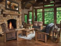 Rustic Live Edge Living Room Furniture Countryside Amish Furniture