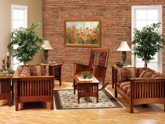 Mission Style Living Room Set