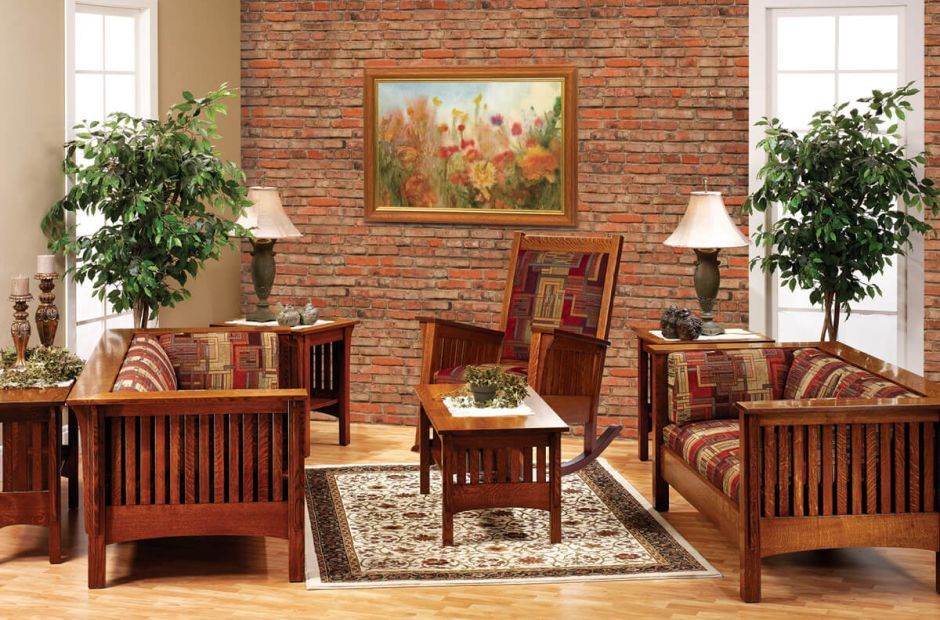 mission living room set creek mission living room set countryside amish 13325