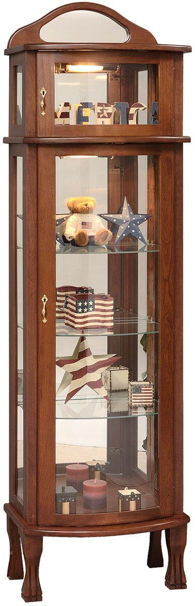 Americana Hardwood Curio Cabinet