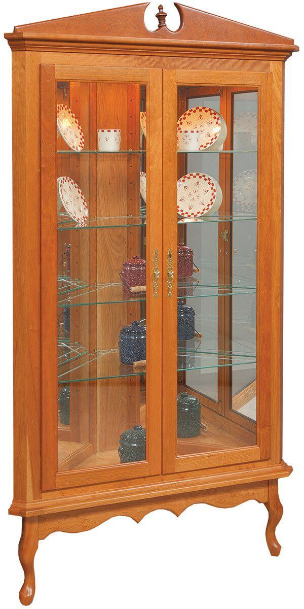 Queen Elizabeth Corner Curio Cabinet