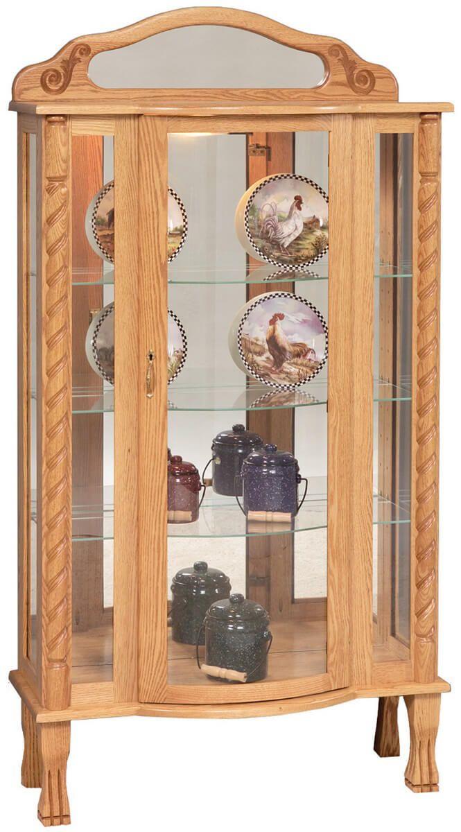 Southern Belle Curio Cabinet in Oak