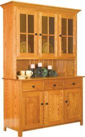 Benson 3-Door Hutch & China Hutches \u0026 Cabinets - Countryside Amish Furniture Pezcame.Com