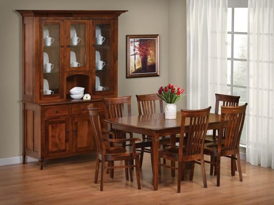 Big Valley Corner China Hutch Countryside Amish Furniture