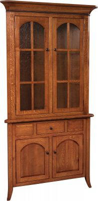 Fort Wayne Closed Corner Hutch With Drawer