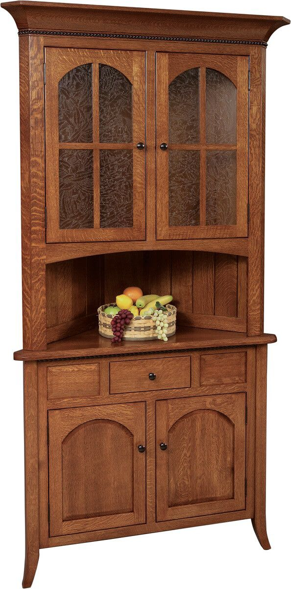 Fort Wayne Corner Hutch With Drawer
