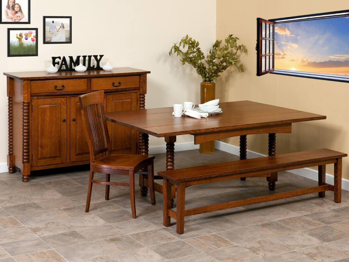 Traditional real wood dining furniture
