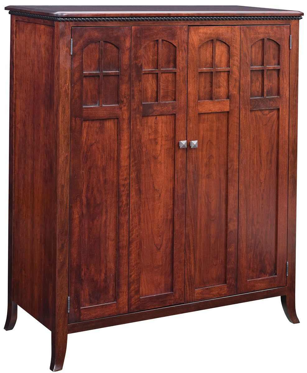 Maxton Solid Cherry Computer Armoire