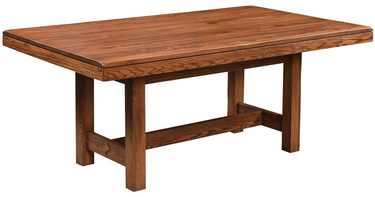 Mobican Hand-Planed Trestle Table