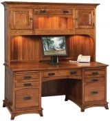 Oswin Computer Desk with Hutch