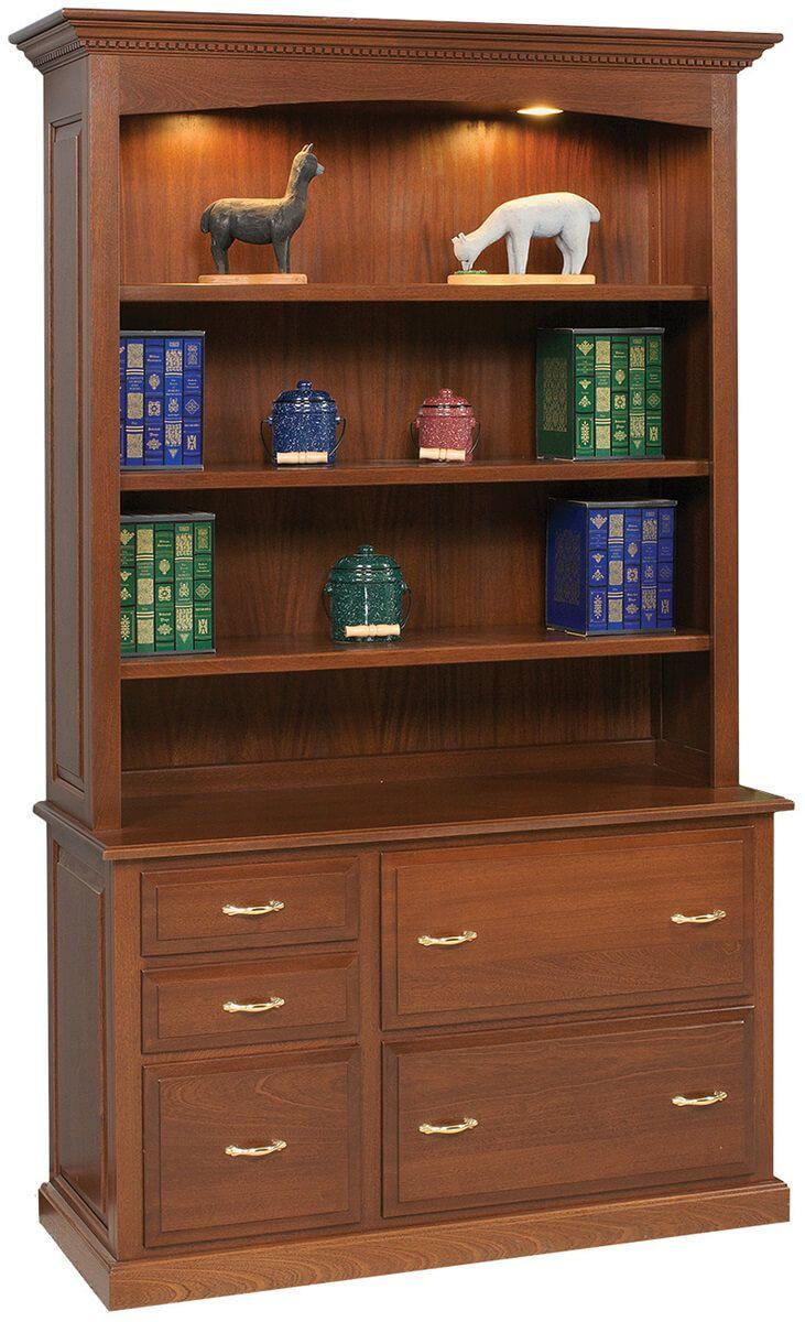 Maida Bookcase Credenza in Cherry